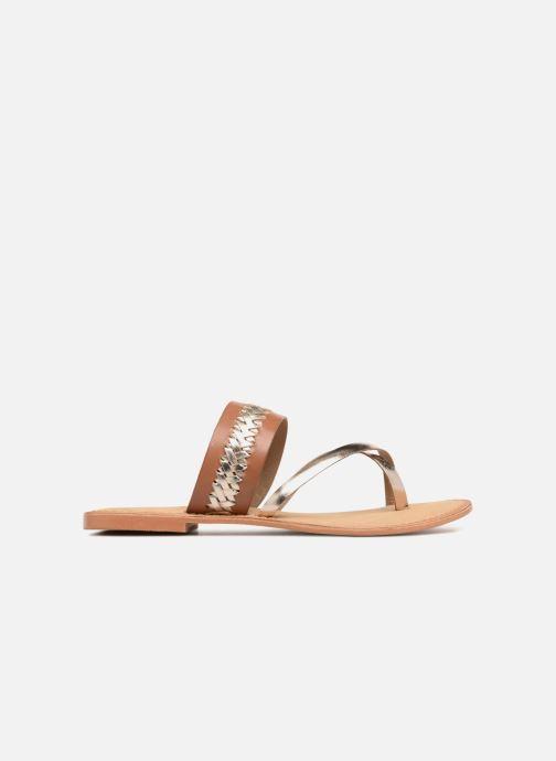 Sandalen Vero Moda Timo leather sandal Bruin achterkant