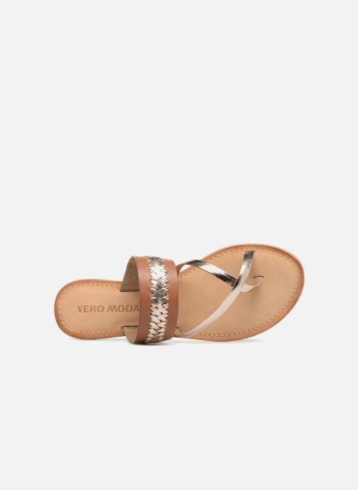 Sandales et nu-pieds Vero Moda Timo leather sandal Marron vue gauche