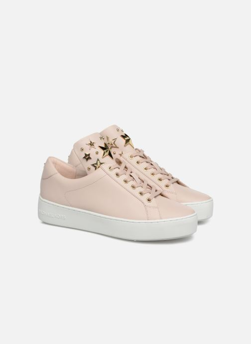 Baskets Michael Michael Kors Mindy Lace Up Rose vue 3/4
