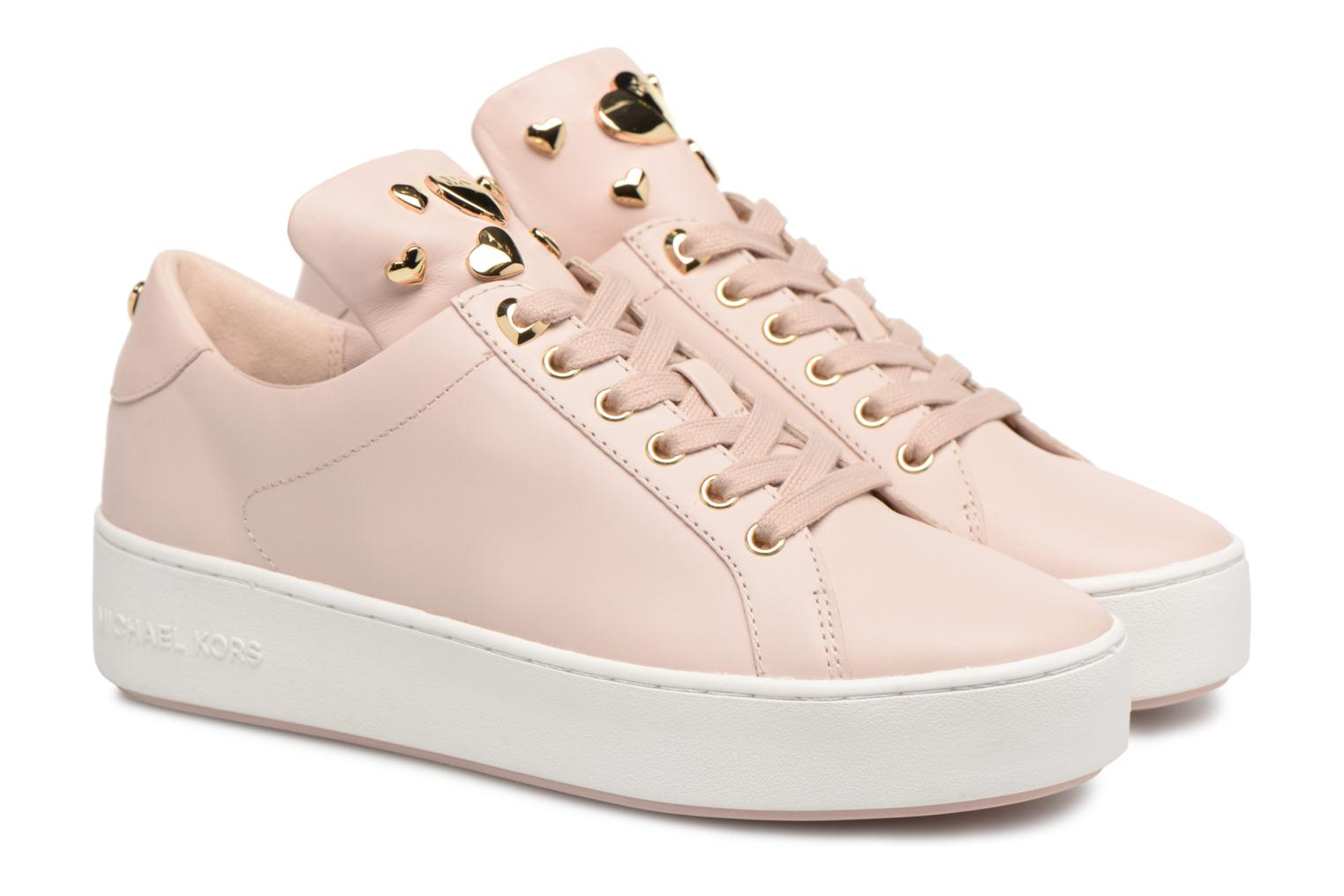 Trainers Michael Michael Kors Mindy Lace Up Pink 3/4 view