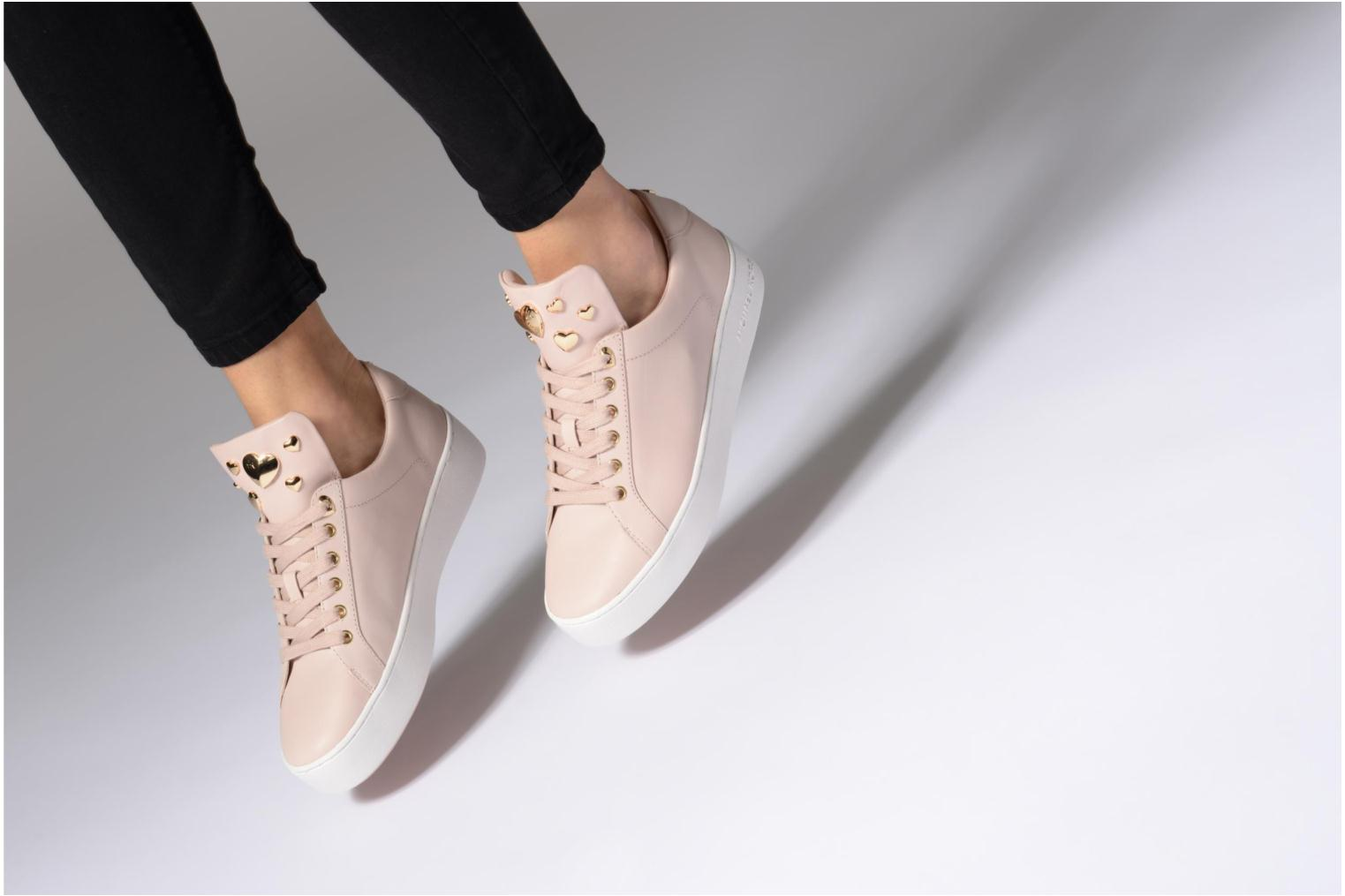 Trainers Michael Michael Kors Mindy Lace Up Pink view from underneath / model view