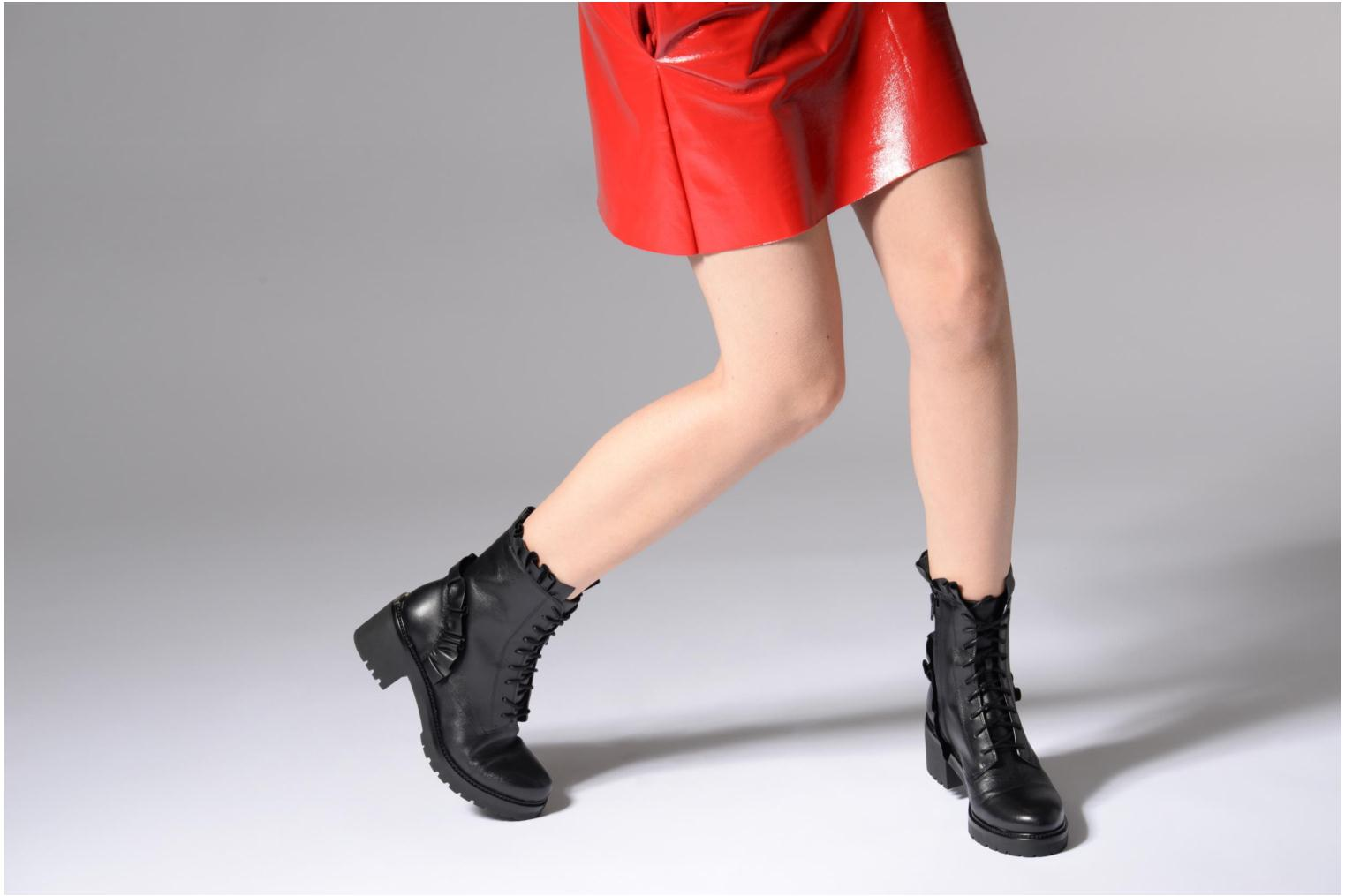 Ankle boots Michael Michael Kors Bella Bootie Black view from underneath / model view