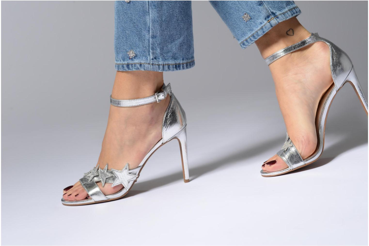 Sandals Michael Michael Kors Lexie Sandal Silver view from underneath / model view