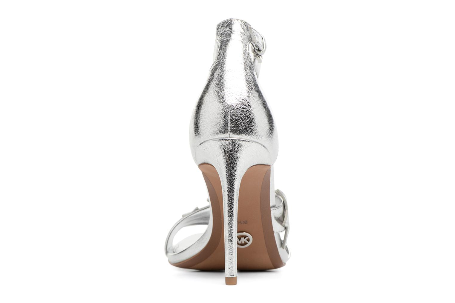 Sandals Michael Michael Kors Lexie Sandal Silver view from the right