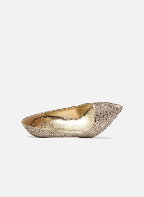 Escarpins Michael Michael Kors Claire Pump Or et bronze vue gauche