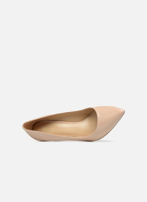 Zapatos de tacón Michael Michael Kors Claire Pump Beige vista lateral izquierda