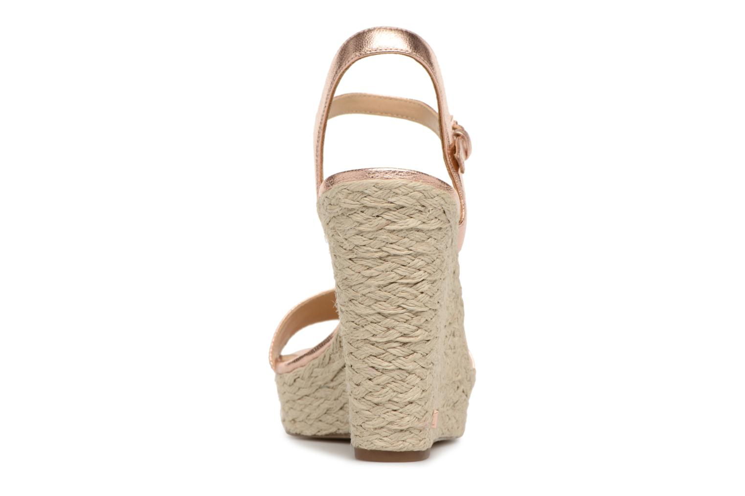 Espadrilles Michael Michael Kors Jil wedge Pink view from the right