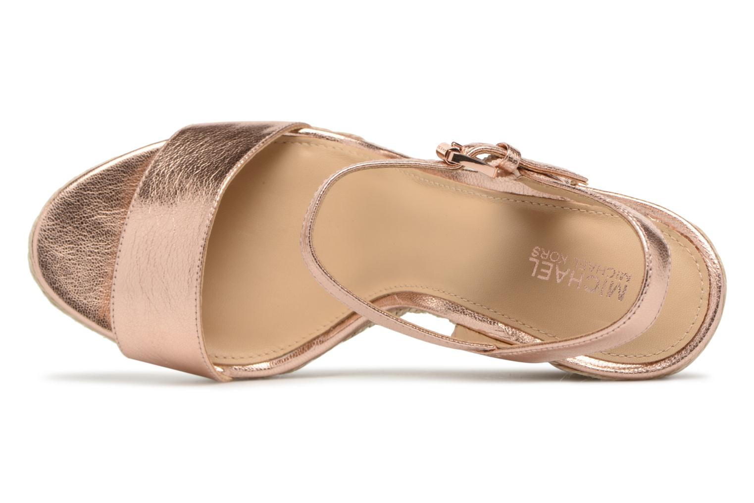 Espadrilles Michael Michael Kors Jil wedge Pink view from the left