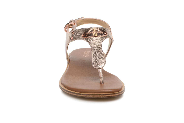 Sandals Michael Michael Kors Mk Plate tongue Pink model view