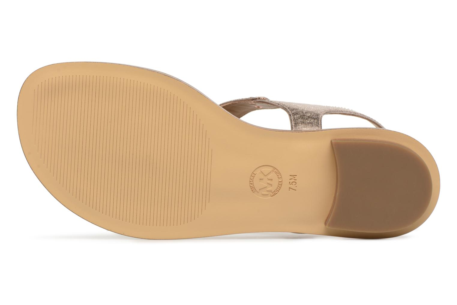 Sandals Michael Michael Kors Mk Plate tongue Pink view from above
