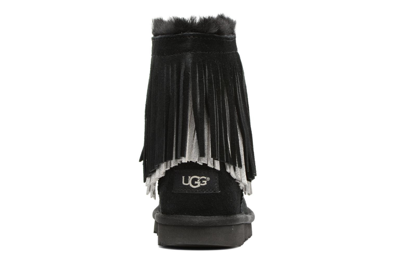 Bottes UGG Classic Short II Fringe Noir vue droite