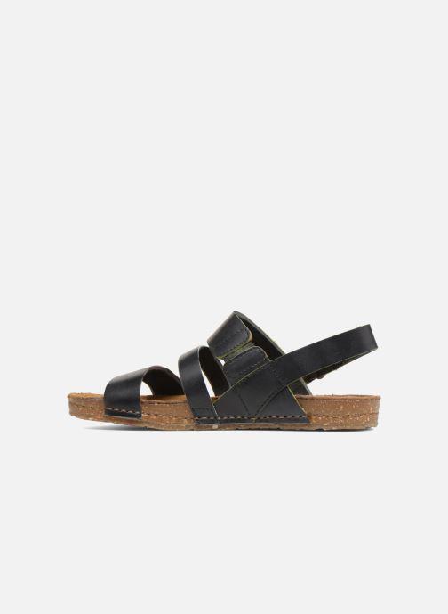 Sandales et nu-pieds Art Creta 1252 Noir vue face