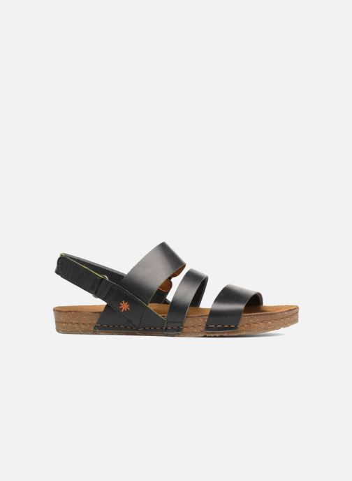 Sandales et nu-pieds Art Creta 1252 Noir vue derrière