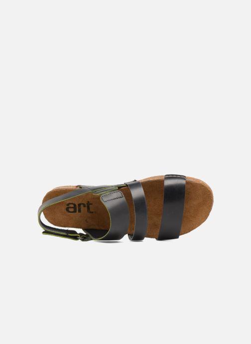 Sandales et nu-pieds Art Creta 1252 Noir vue gauche