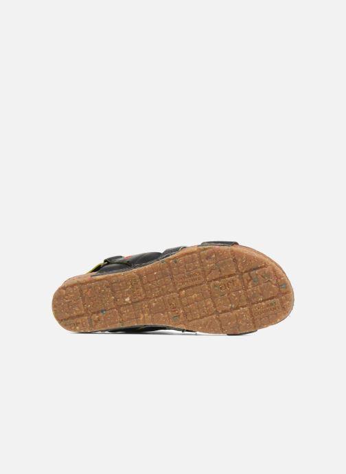 Sandales et nu-pieds Art Creta 1252 Noir vue haut