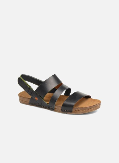 Sandales et nu-pieds Art Creta 1252 Noir vue détail/paire