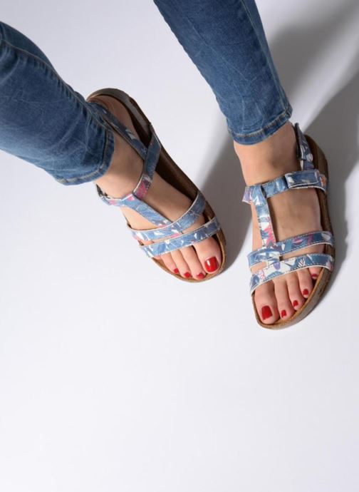 Sandales et nu-pieds Art I Breathe 946F Bleu vue bas / vue portée sac