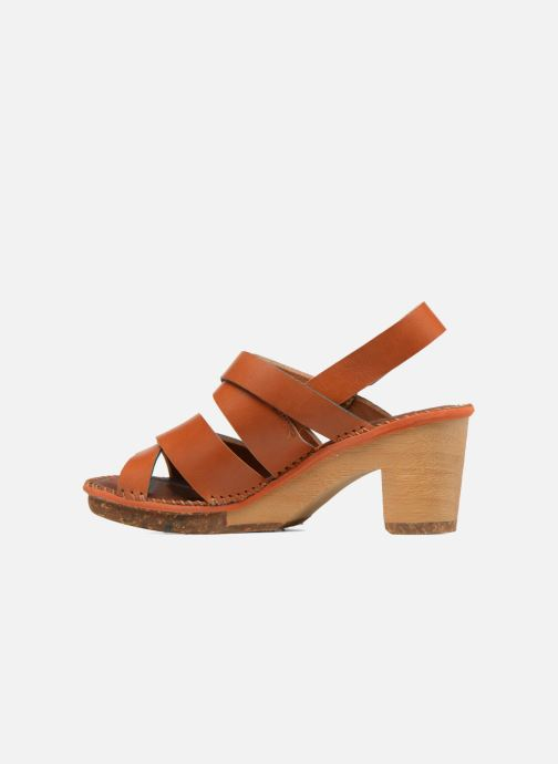 Sandales et nu-pieds Art Amsterdam 1055 Marron vue face