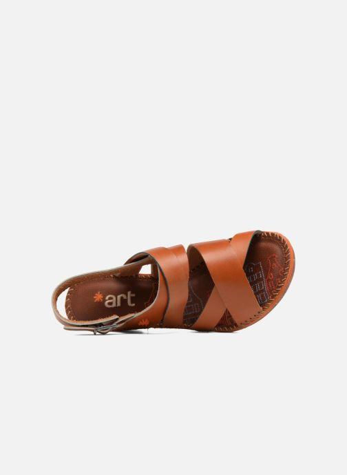 Sandales et nu-pieds Art Amsterdam 1055 Marron vue gauche