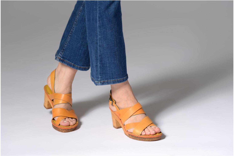 Sandales et nu-pieds Art Amsterdam 1055 Jaune vue bas / vue portée sac