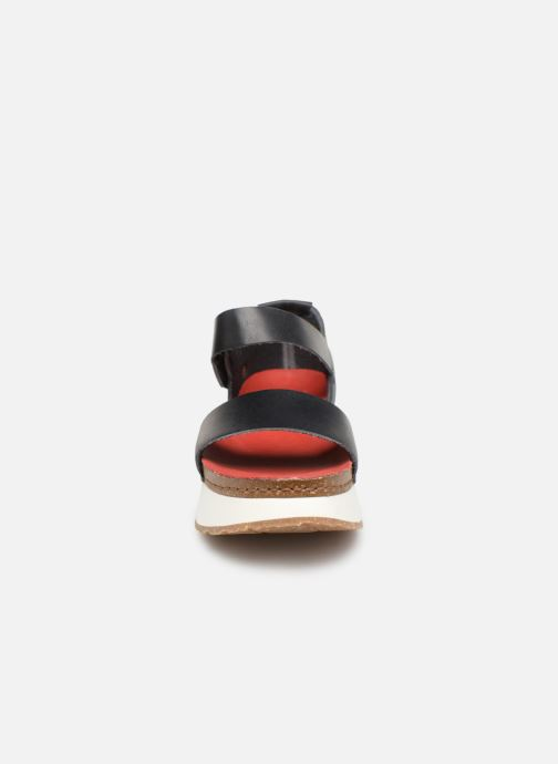 Sandales et nu-pieds Art Mykonos 1260 Noir vue portées chaussures