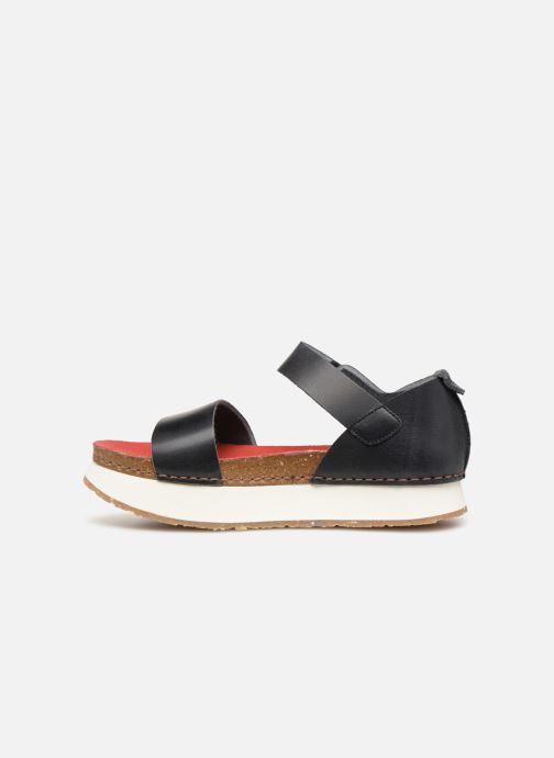 Sandales et nu-pieds Art Mykonos 1260 Noir vue face