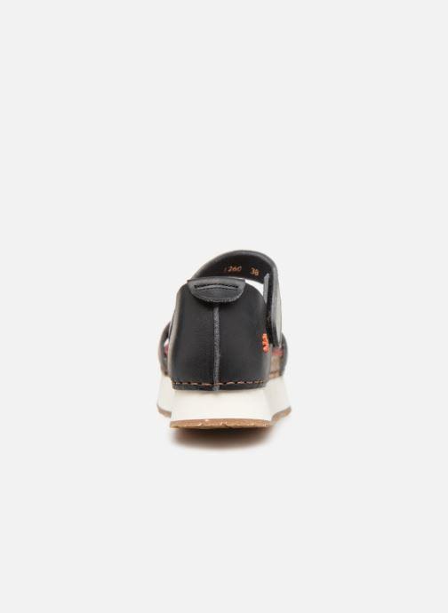 Sandales et nu-pieds Art Mykonos 1260 Noir vue droite