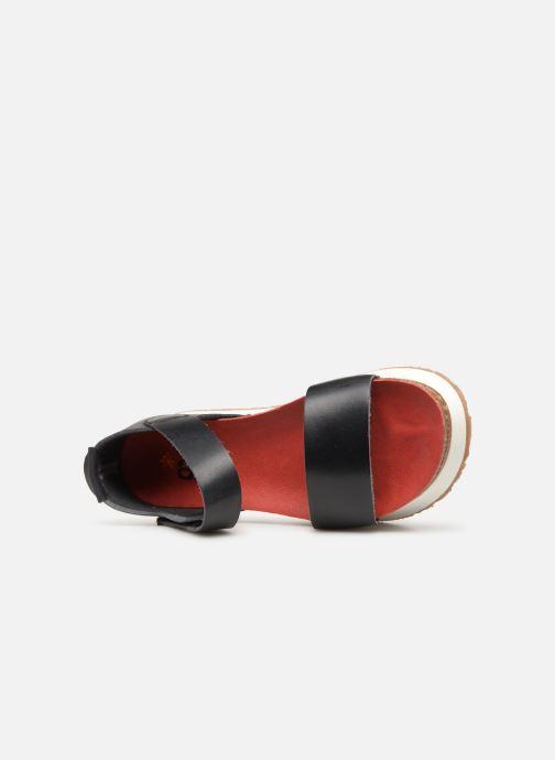 Sandales et nu-pieds Art Mykonos 1260 Noir vue gauche
