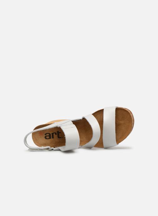 Sandalen Art Borne 1320 weiß ansicht von links