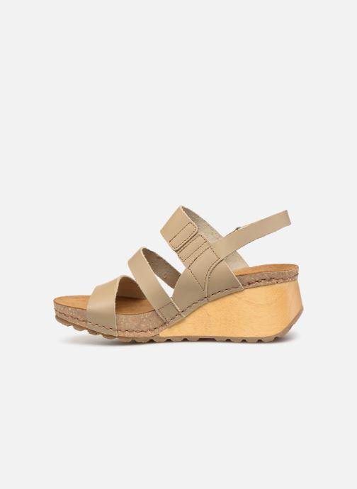 Sandales et nu-pieds Art Borne 1320 Beige vue face