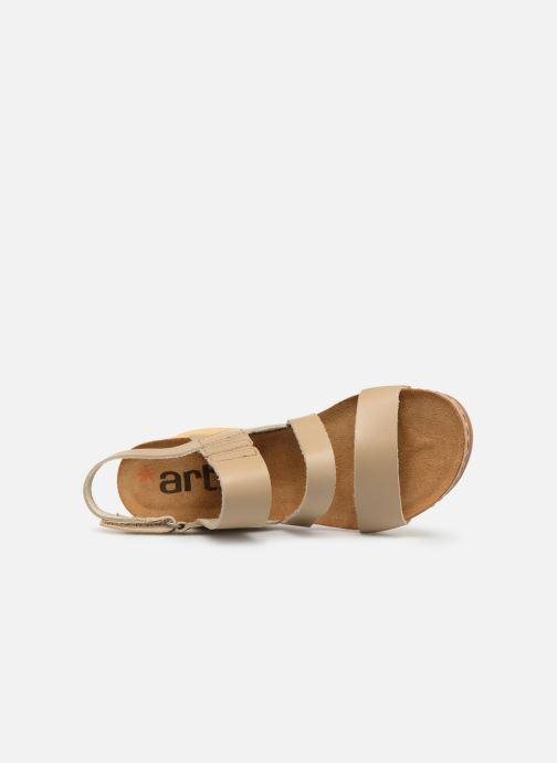 Sandales et nu-pieds Art Borne 1320 Beige vue gauche