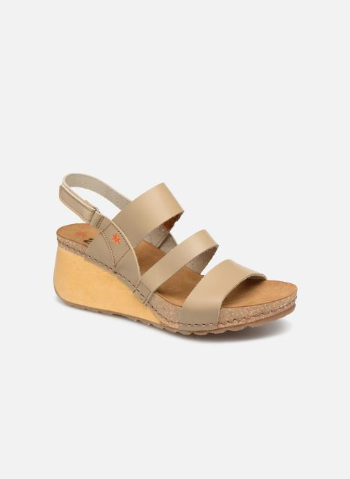 Sandales et nu-pieds Art Borne 1320 Beige vue détail/paire