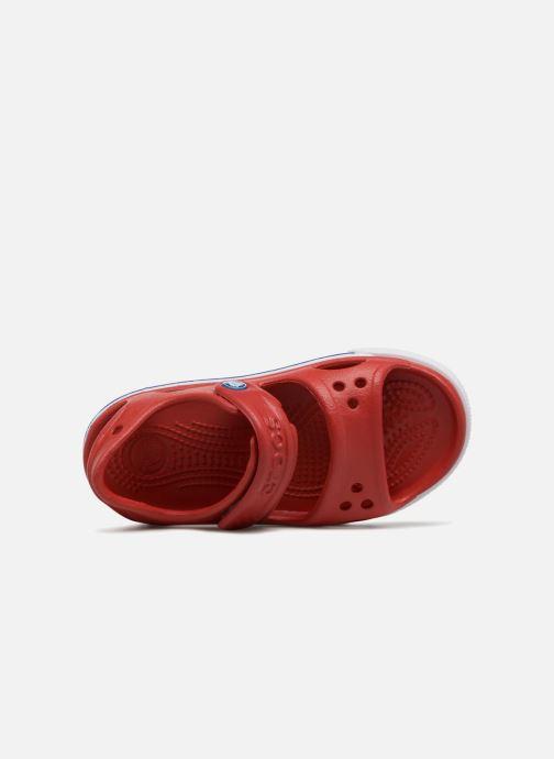 Sandalias Crocs Crocband II Sandal PS Rojo vista lateral izquierda