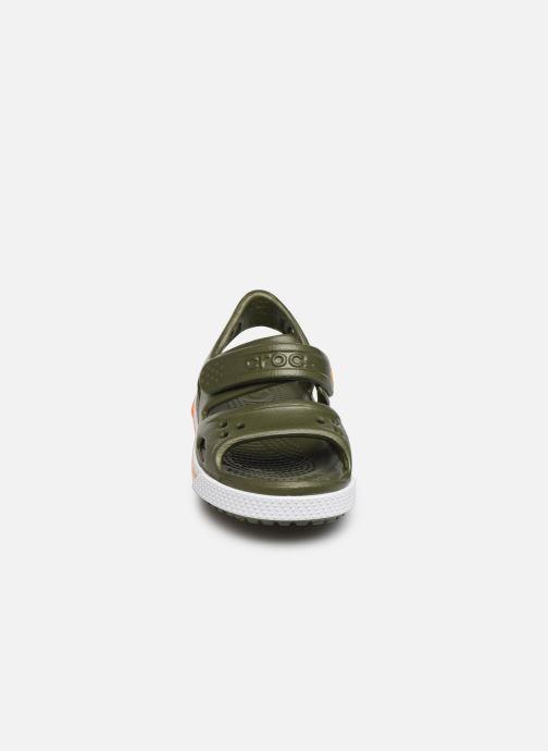 Sandali e scarpe aperte Crocs Crocband II Sandal PS Verde modello indossato