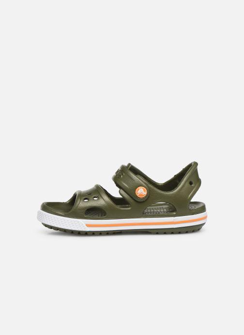 Sandaler Crocs Crocband II Sandal PS Grøn se forfra