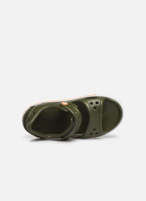 Sandaler Crocs Crocband II Sandal PS Grøn se fra venstre
