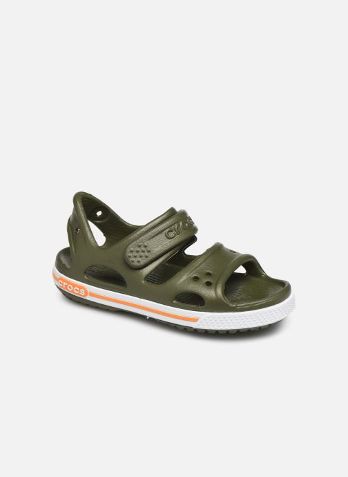 Sandals Crocs Crocband II Sandal PS Green detailed view/ Pair view