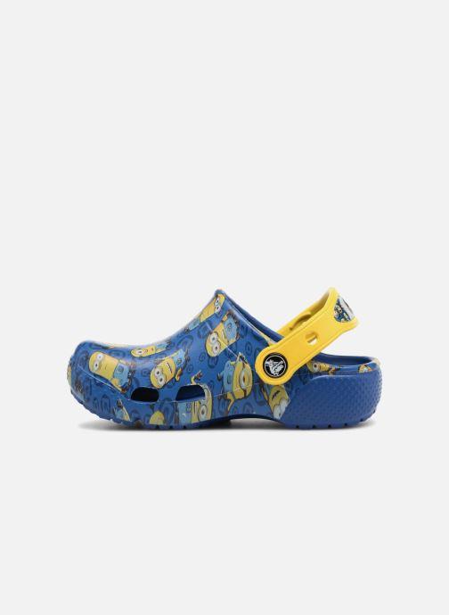 Sandalias Crocs Classic Clog Graphic Kids FL Minions Azul vista de frente