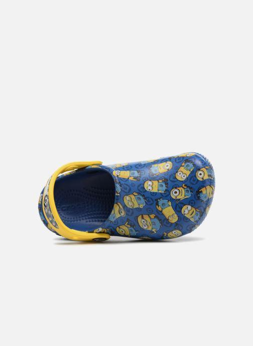 Sandales et nu-pieds Crocs Classic Clog Graphic Kids FL Minions Bleu vue gauche