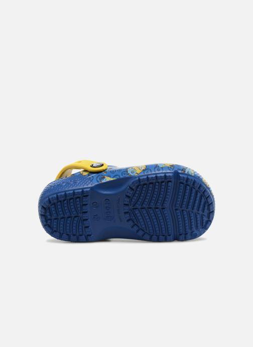 Sandalias Crocs Classic Clog Graphic Kids FL Minions Azul vista de arriba