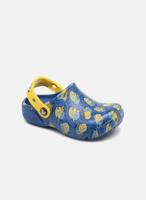 Sandalias Crocs Classic Clog Graphic Kids FL Minions Azul vista de detalle / par