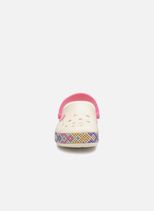 Sandales et nu-pieds Crocs Crocband Gallery Clog Kids Blanc vue portées chaussures
