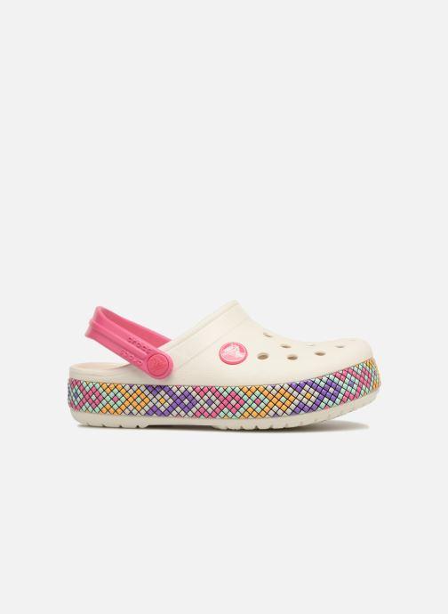 Sandales et nu-pieds Crocs Crocband Gallery Clog Kids Blanc vue derrière