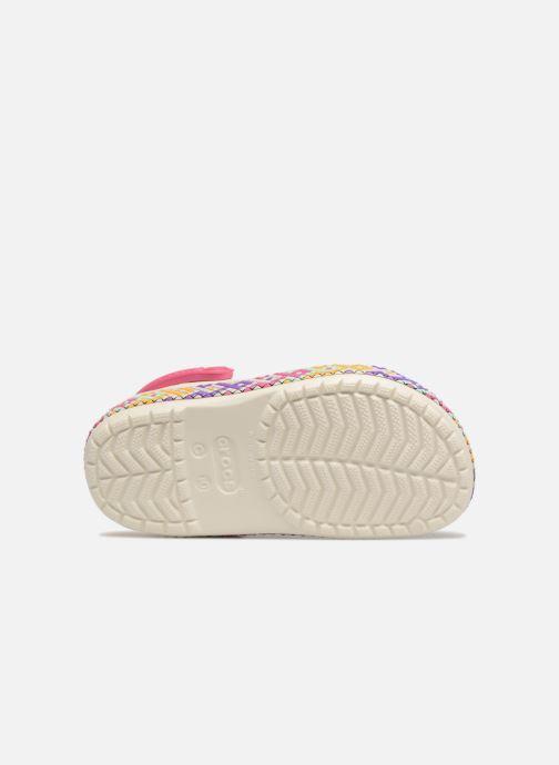 Sandales et nu-pieds Crocs Crocband Gallery Clog Kids Blanc vue haut