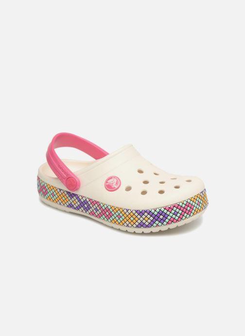 Sandales et nu-pieds Crocs Crocband Gallery Clog Kids Blanc vue détail/paire