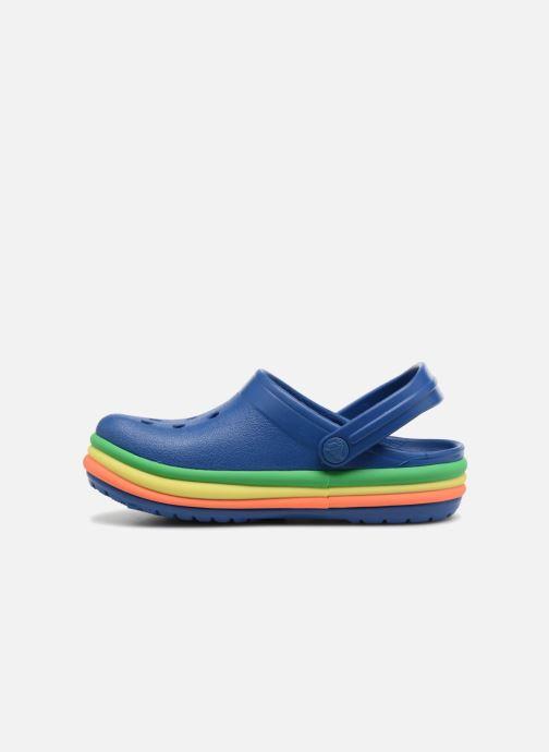 Sandalias Crocs CB Rainbow Band Clog Kids Azul vista de frente