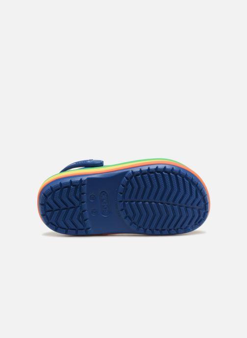 Sandales et nu-pieds Crocs CB Rainbow Band Clog Kids Bleu vue haut