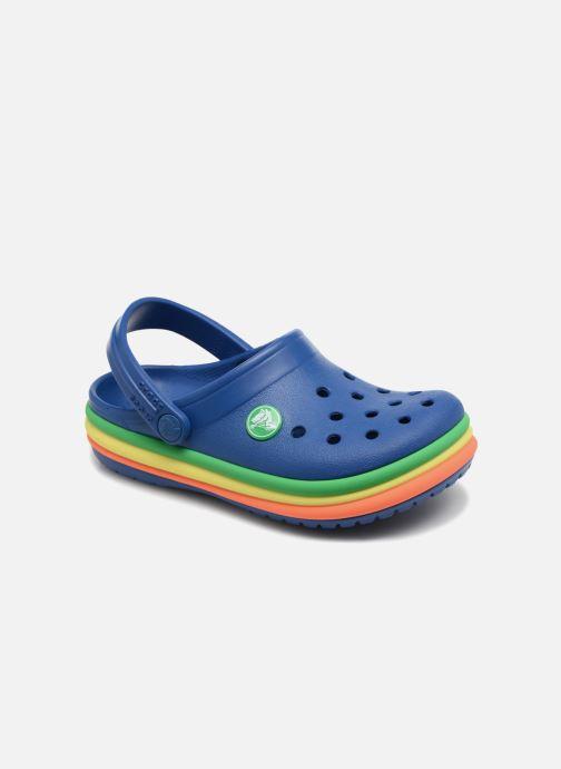 Sandalias Crocs CB Rainbow Band Clog Kids Azul vista de detalle / par