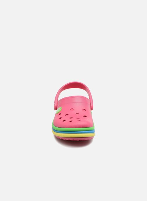 Sandals Crocs CB Rainbow Band Clog Kids Pink model view