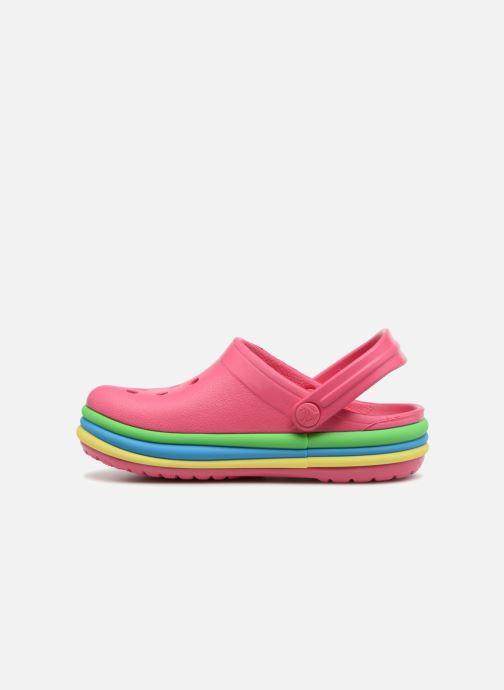 Sandals Crocs CB Rainbow Band Clog Kids Pink front view